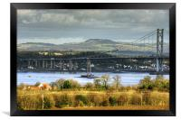 New Forth Crossing - 16 February 2013, Framed Print
