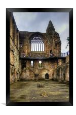 Dunfermline Abbey Refectory Window, Framed Print
