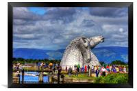 Crowds at the Kelpies, Framed Print