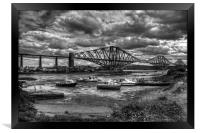 Low Tide in North Queensferry - B&W, Framed Print