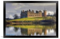Palace and Church by the Loch, Framed Print