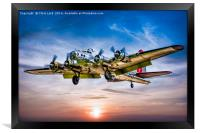 "Boeing B-17G Flying Fortress ""Yankee Lady"", Framed Print"