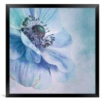 shades of blue, Framed Print