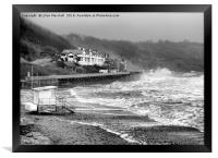 Sandsend Beach Scarborough. , Framed Print