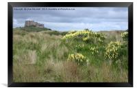 Bamburgh Castle. , Framed Print