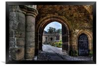 Gateway to Whalley Abbey, Framed Print