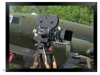 Mitchell camera and DC-3, Framed Print