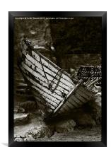 Old Fishing Boat Isle of Wight Canvases & Prints, Framed Print