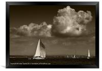 Cowes Yachting Canvases & Prints, Framed Print