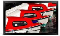 Red Boats, Lyme Regis Canvases & Prints, Framed Print
