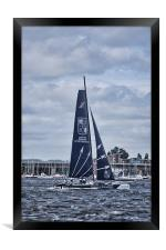 Extreme 40 Team Groupe Edmond De Rothschild, Framed Print