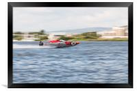P1 Powerboats Team Wales 2, Framed Print