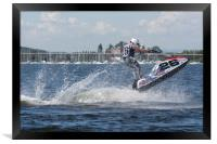 AquaX Jetski Racing 1, Framed Print