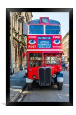 The Bus To Putney, Framed Print