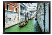 Under The Bridge Of Sighs, Framed Print