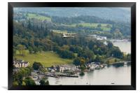 Vulcan Flypast at Ambleside, Framed Print