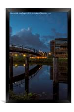 Night Time Reflections, Framed Print