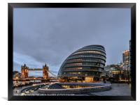 City Hall London, Framed Print