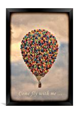 Come fly with me ..., Framed Print
