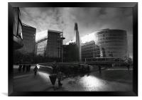 The Shard and South Bank, Framed Print