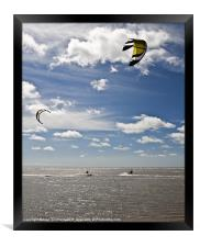 Summer Kite Surfing, Framed Print