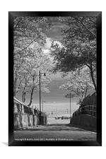 Cobbles at Filey, Framed Print