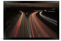 M1 Motorway Madness, Framed Print