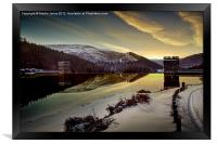 Another Frozen Dawn at Howden, Framed Print