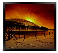 Chill Winter Comes to Howden, Framed Print