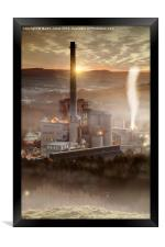 Hope Cement Works , Framed Print