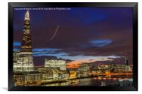 From the Shard  to the London Eye, Framed Print