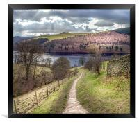 From Grindle Clough to Ladybower, Framed Print