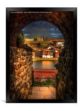Through the Keyhole at Whitby , Framed Print