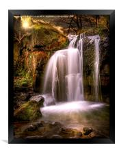 Evening over The Falls at Lumsdale, Framed Print