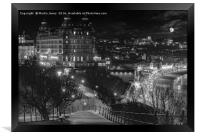 Scarborough by Night, Framed Print