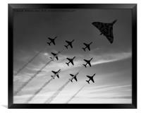 Vulcan XH558 with the RAF Red Arrows, Framed Print
