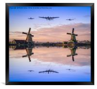 BBMF Reflected in the Mill Ponds of Holland, Framed Print