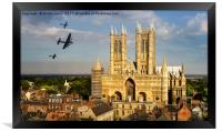 BBMF Over Lincoln Cathedral, Framed Print
