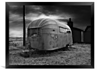 Airstream Caravan, Framed Print