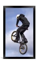 Bike Stunt rider, Framed Print