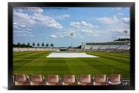 Hampshire County Cricket Ground, Framed Print