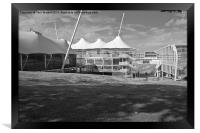Cricket Ground Southampton Black And White, Framed Print
