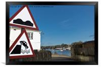 Please Drive Carefully In Mylor Bridge, Framed Print