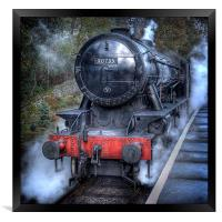 Under Steam Again., Framed Print