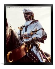 Knight In Shining Armour , Framed Print