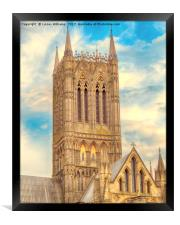 Central Tower of Lincoln Cathedral, Framed Print