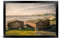 Swanage Beach huts Bay, Framed Print