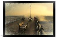 Winter Sunrise Swanage Jetty, Framed Print