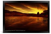 Ladybower Glow, Framed Print