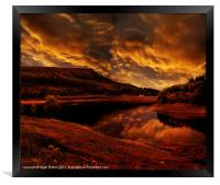 Bamford Edge, Framed Print